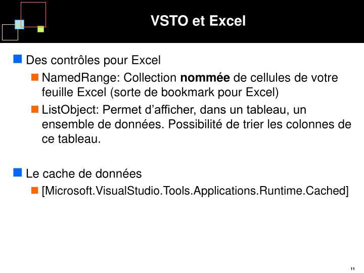 VSTO et Excel
