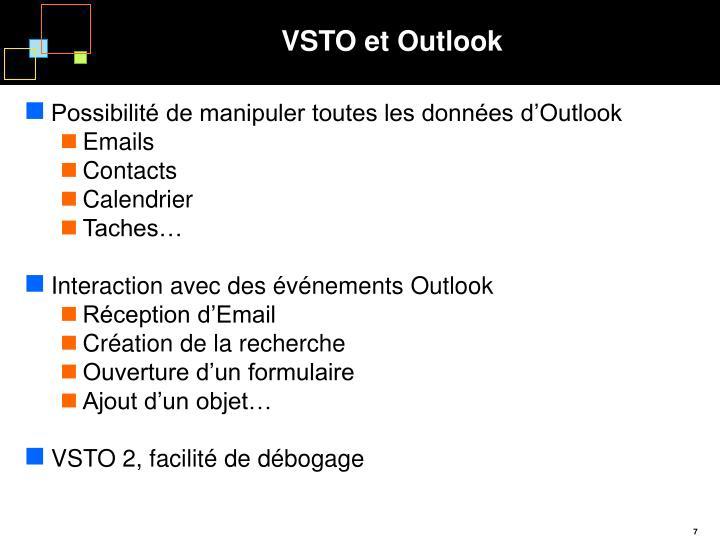 VSTO et Outlook