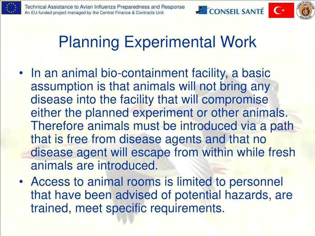 Planning Experimental Work