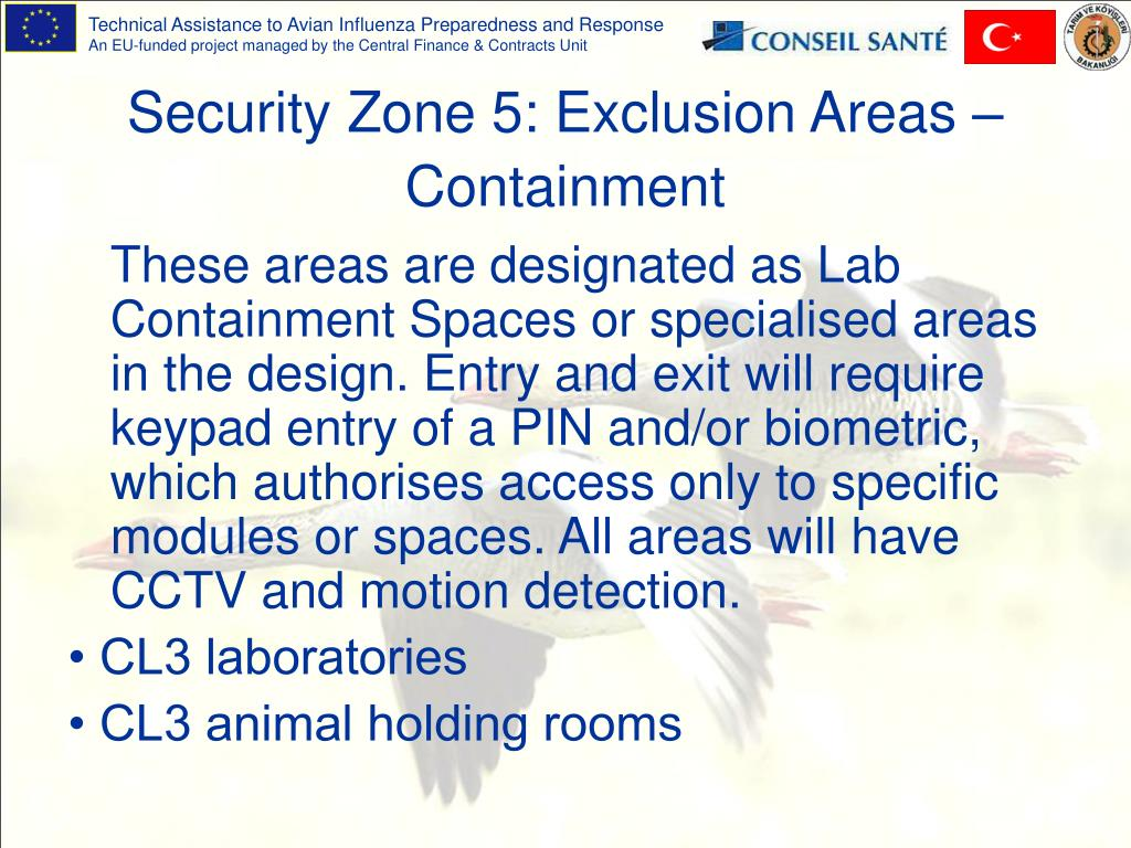 Security Zone 5: Exclusion Areas – Containment