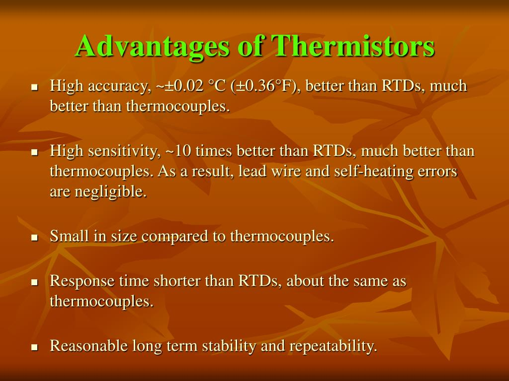 Advantages of Thermistors