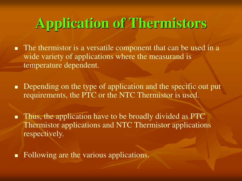 Application of Thermistors