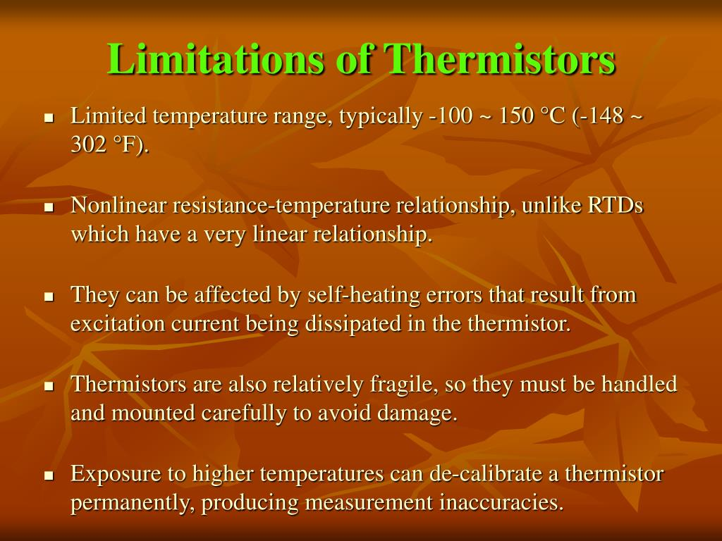Limitations of Thermistors