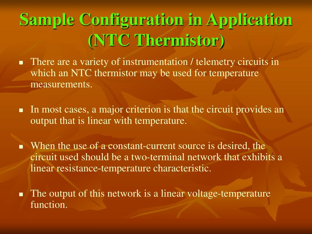 Sample Configuration in Application (NTC Thermistor)
