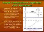 sample configuration in application ntc thermistor20
