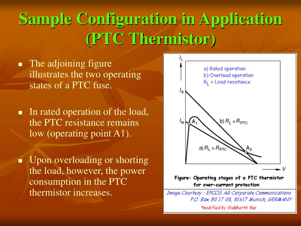 Sample Configuration in Application (PTC Thermistor)