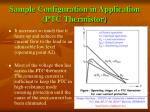 sample configuration in application ptc thermistor15