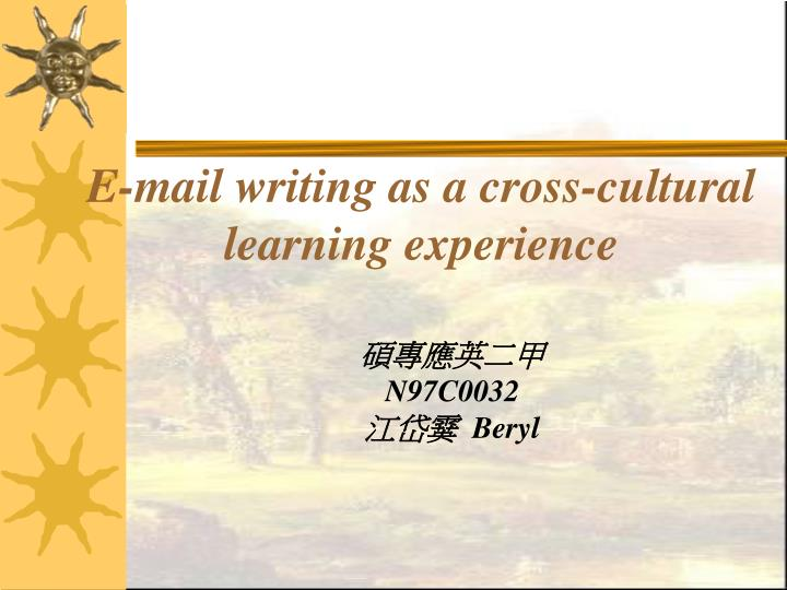 E-mail Activities in the ESL Writing Class