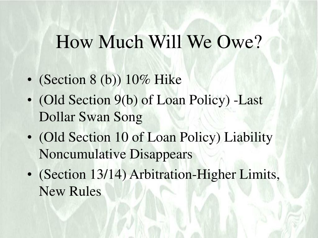 How Much Will We Owe?