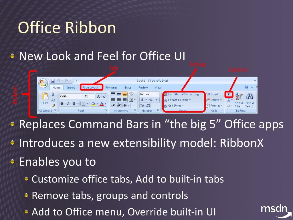 Office Ribbon