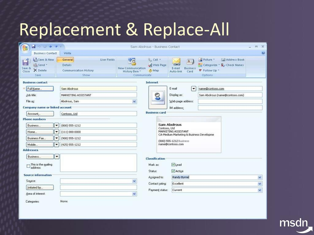 Replacement & Replace-All