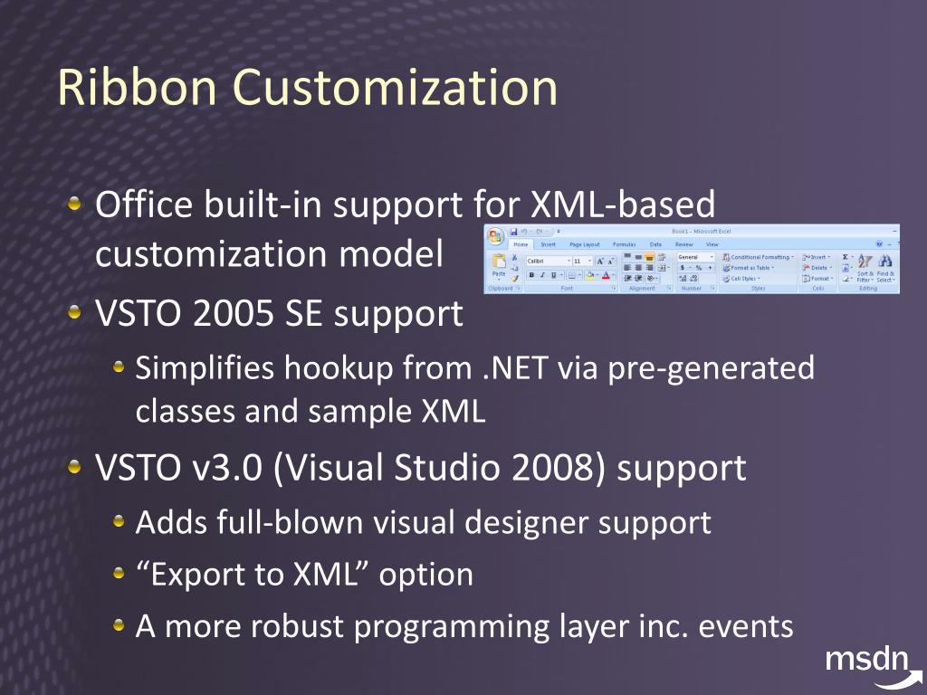 Ribbon Customization