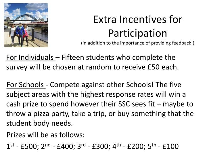 Extra Incentives for Participation