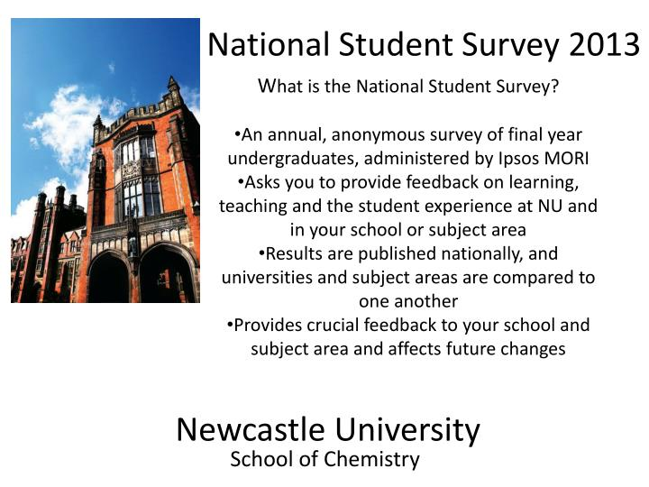 National Student Survey 2013