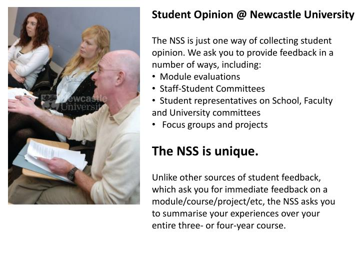 Student Opinion @ Newcastle University