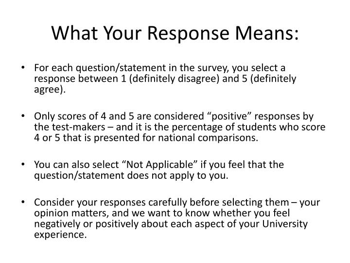 What Your Response Means: