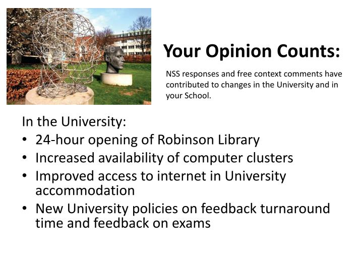 Your Opinion Counts: