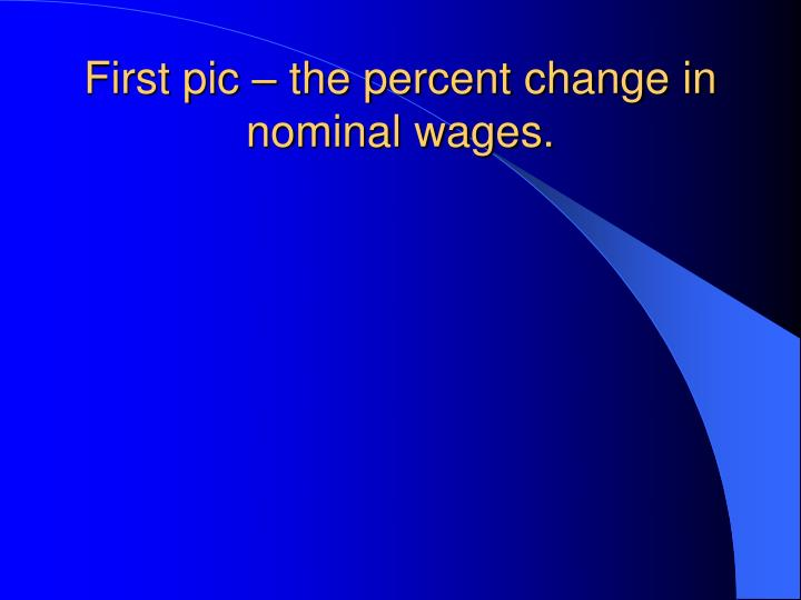 First pic – the percent change in nominal wages.