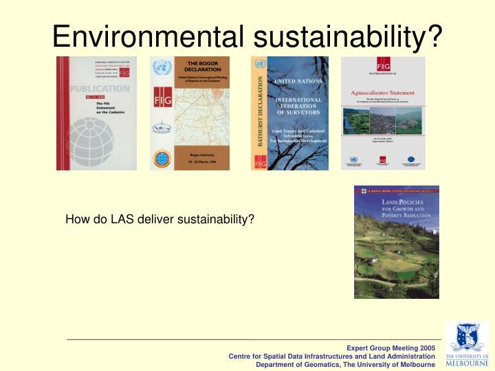 Environmental sustainability?