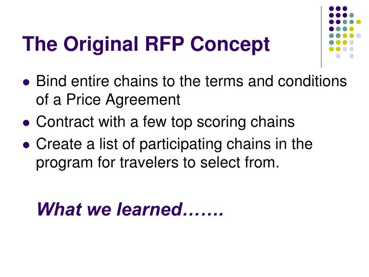 The Original RFP Concept