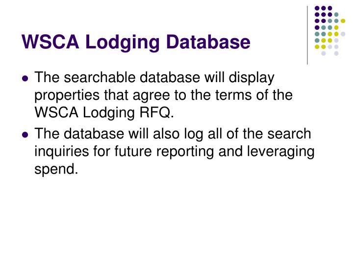 WSCA Lodging Database