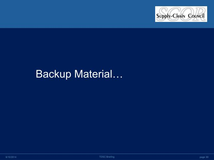 Backup Material…