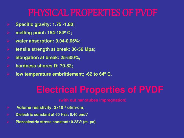 PHYSICAL PROPERTIES OF PVDF
