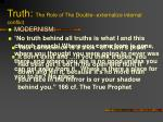 truth the role of the double externalize internal conflict