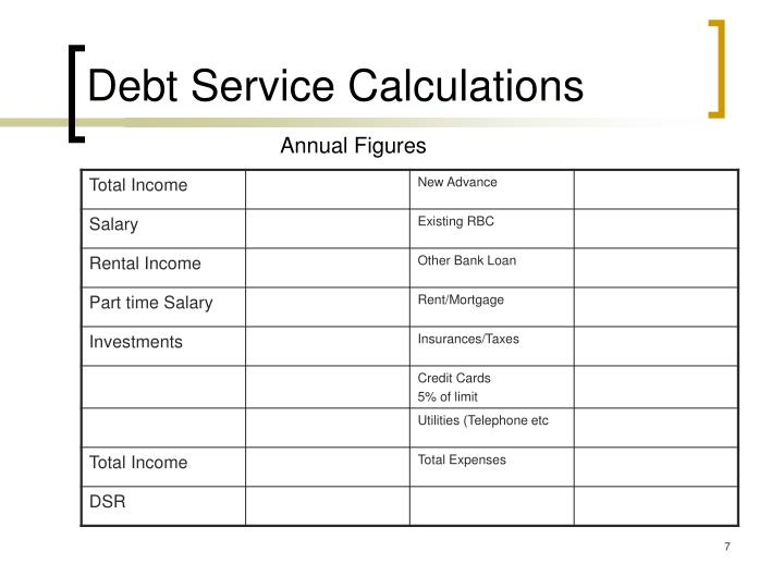 Debt Service Calculations