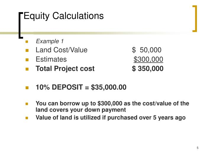 Equity Calculations
