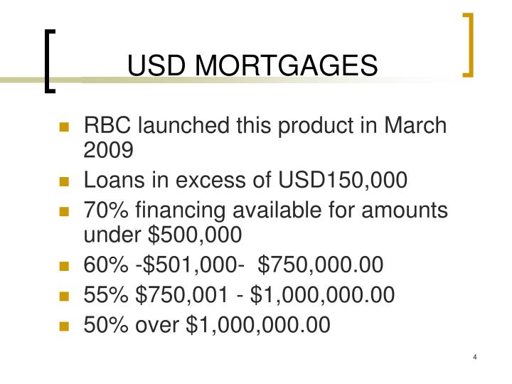 USD MORTGAGES
