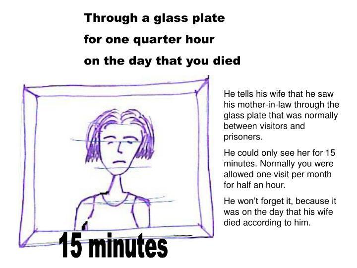 Through a glass plate