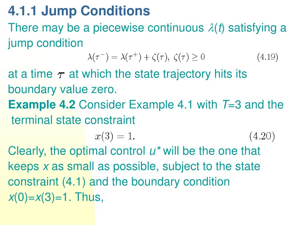 4.1.1 Jump Conditions