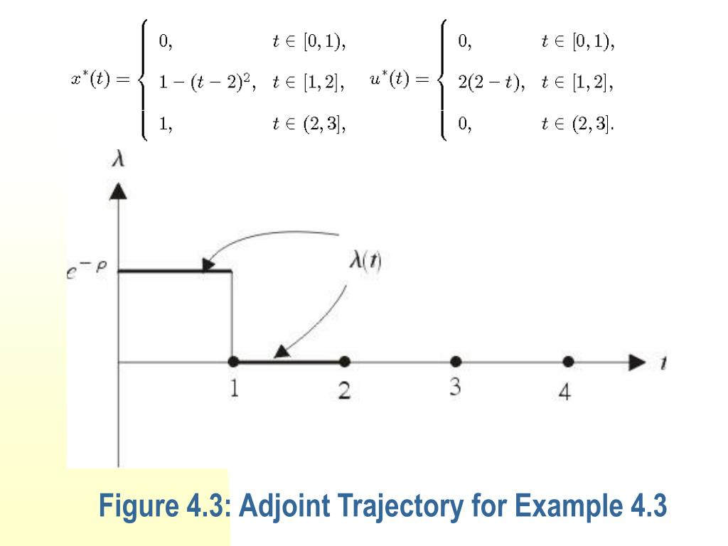 Figure 4.3: Adjoint Trajectory for Example 4.3