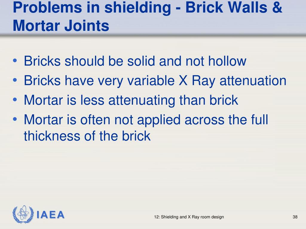 Problems in shielding - Brick Walls & Mortar Joints