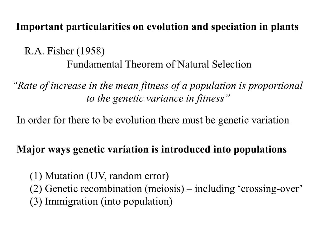 Important particularities on evolution and speciation in plants