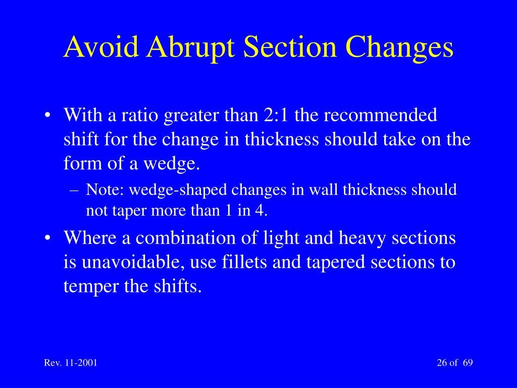 Avoid Abrupt Section Changes