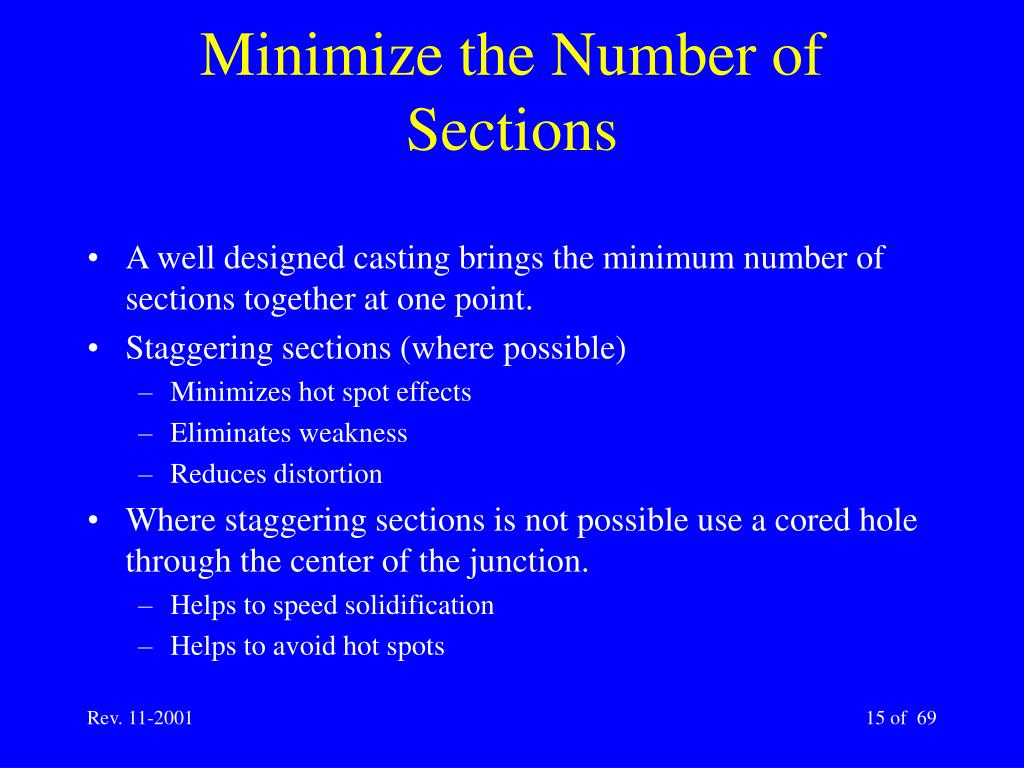 Minimize the Number of Sections