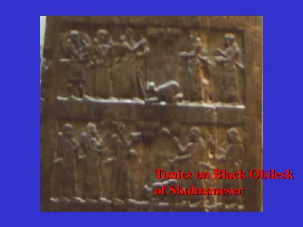 Tunics on Black Obilesk of Shalmaneser