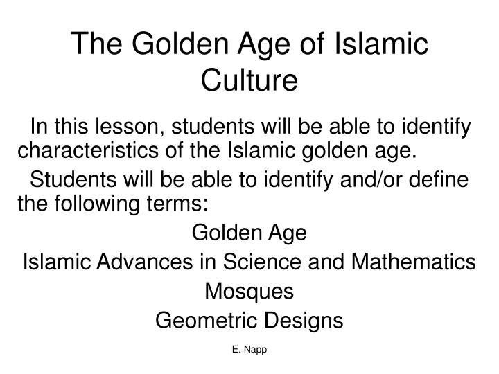 The golden age of islamic culture