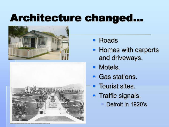 Architecture changed…