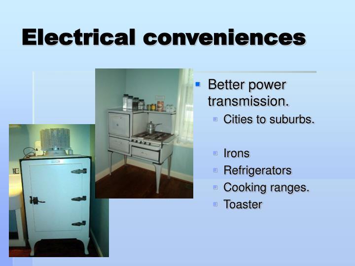 Electrical conveniences