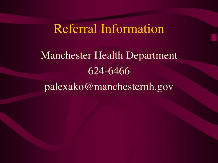 Referral Information