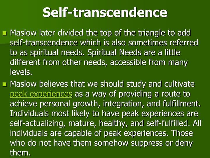 Self-transcendence
