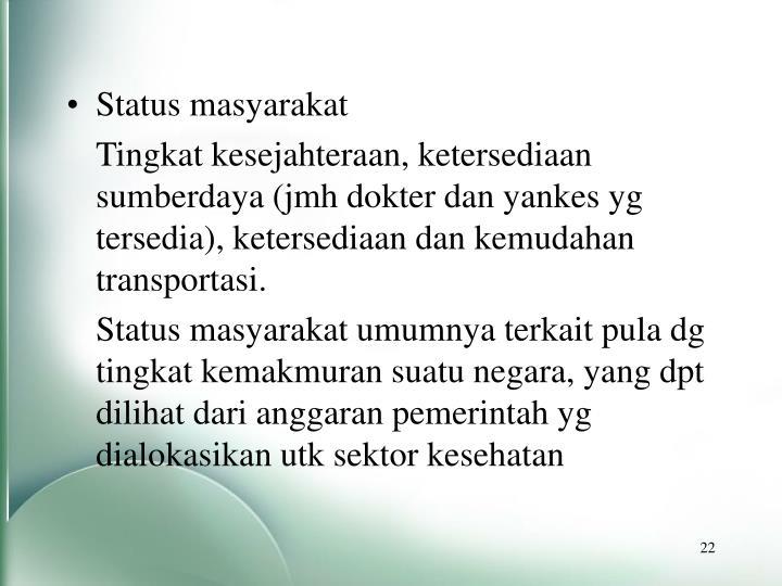 Status masyarakat