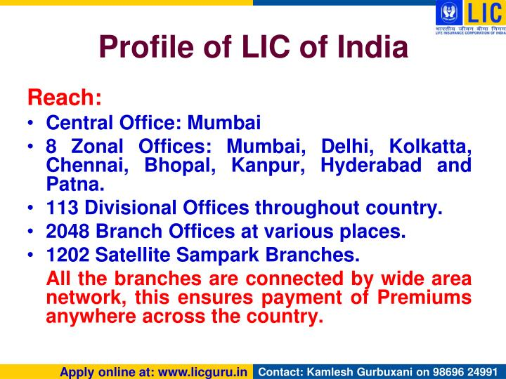 Profile of LIC of India