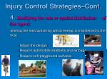 injury control strategies cont