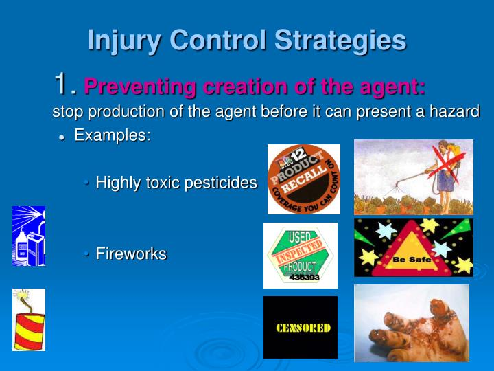 Injury Control Strategies
