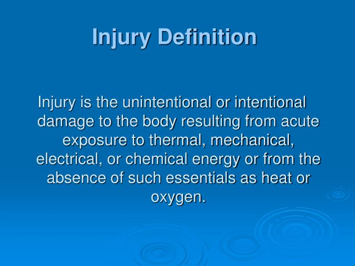 Injury Definition