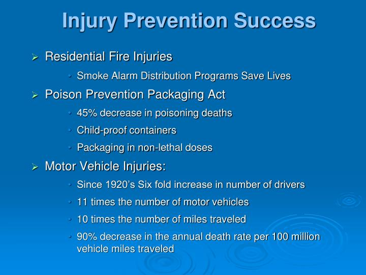 Injury Prevention Success